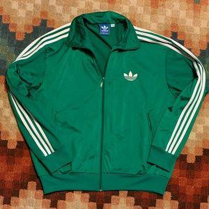 Euc Adidas Superstar Track Jacket Green